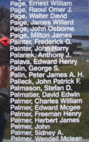 Memorial – Flight Sergeant Frederick George Painter is also commemorated on the Bomber Command Memorial Wall in Nanton, AB … photo courtesy of Marg Liessens