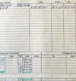 Document – This is the back of Scott's Form 373.  It contains most of the information seen on his Record Card with one exception.  he last two entries show that he was SOS (Struck Off Strength) of 432 Sqdn and TOS (Taken On Strength) of RCAF Non-Effective Unit.  All missing crew were transferred from their active unit to this inactive  unit until they were released from it on final burial or return to duty.  This allowed the RAF and RCAF to keep track of all of their missing men.  All of their records were kept in one place until their fate was finalized.   Source: Library & Archives Canada via R. Whitehouse