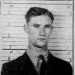 Identification Card – As an AC2, Scott received this D Card from the RCAF.  He is 22 years of age in this photo.    Source: Library & Archives Canada via R. Whitehouse