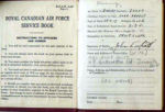 Documents – Scott's paybook, ID Card and Sgt. Air Gunner photos as the they were found in his file.  Source: Library & Archives Canada via R. Whitehouse