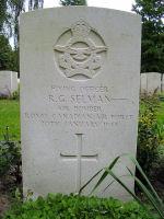 Grave Marker – Gravemarker of R G Selman's grave at the Berlin War Cemetery