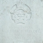 Grave marker – Photo provided by The Commonwealth Roll Of Honour Project. Volunteer Mike and Dale