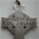 medal – This is a picture of his memorial cross (reverse)