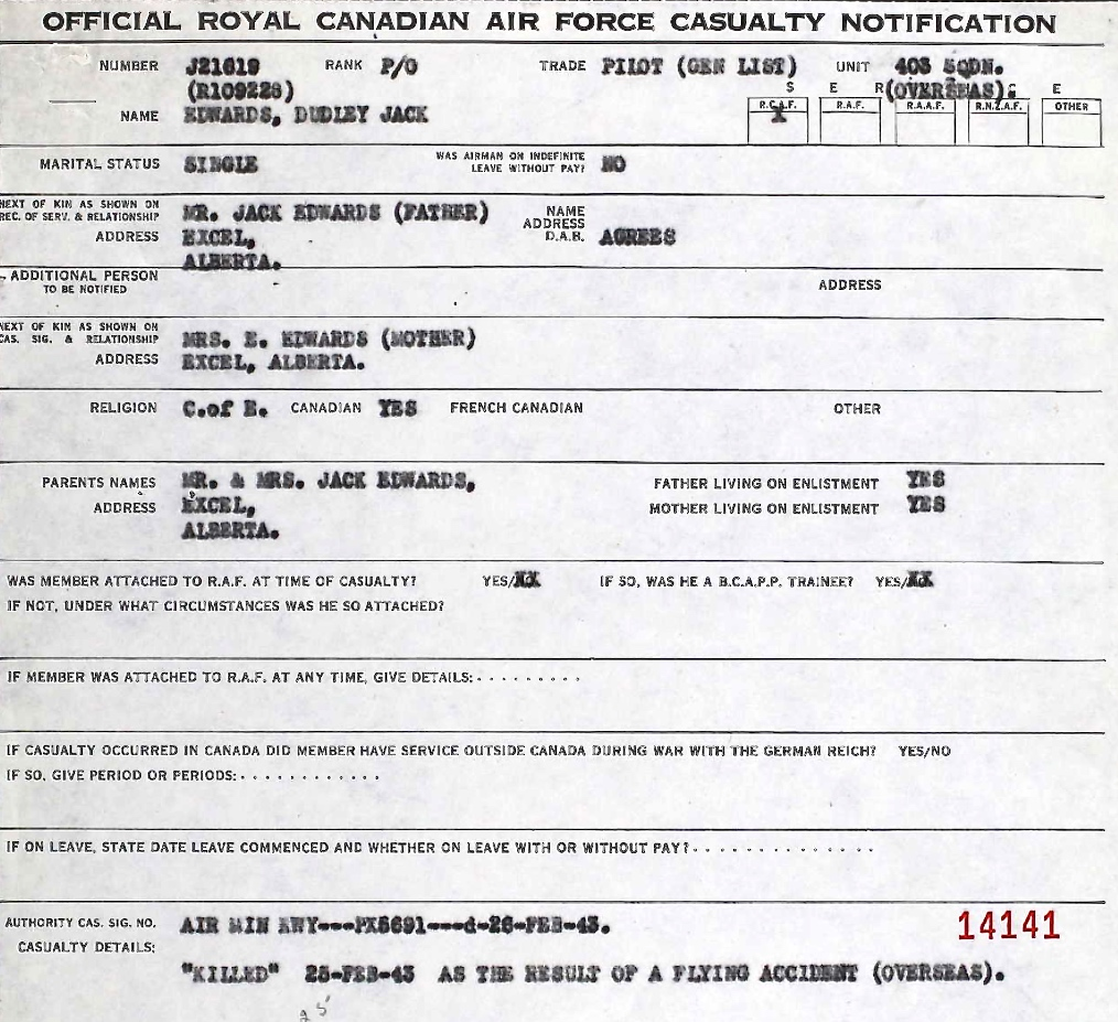 Casualty Notification Form