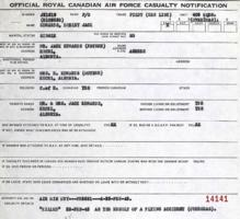 Casualty Notification Form – Submitted for the project, Operation Picture Me