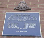 Plaque – Plaque commemorating the loss of eleven Canadian men on May 23rd, 1943, killed during the bombing of the Albany Hotel, Hastings.