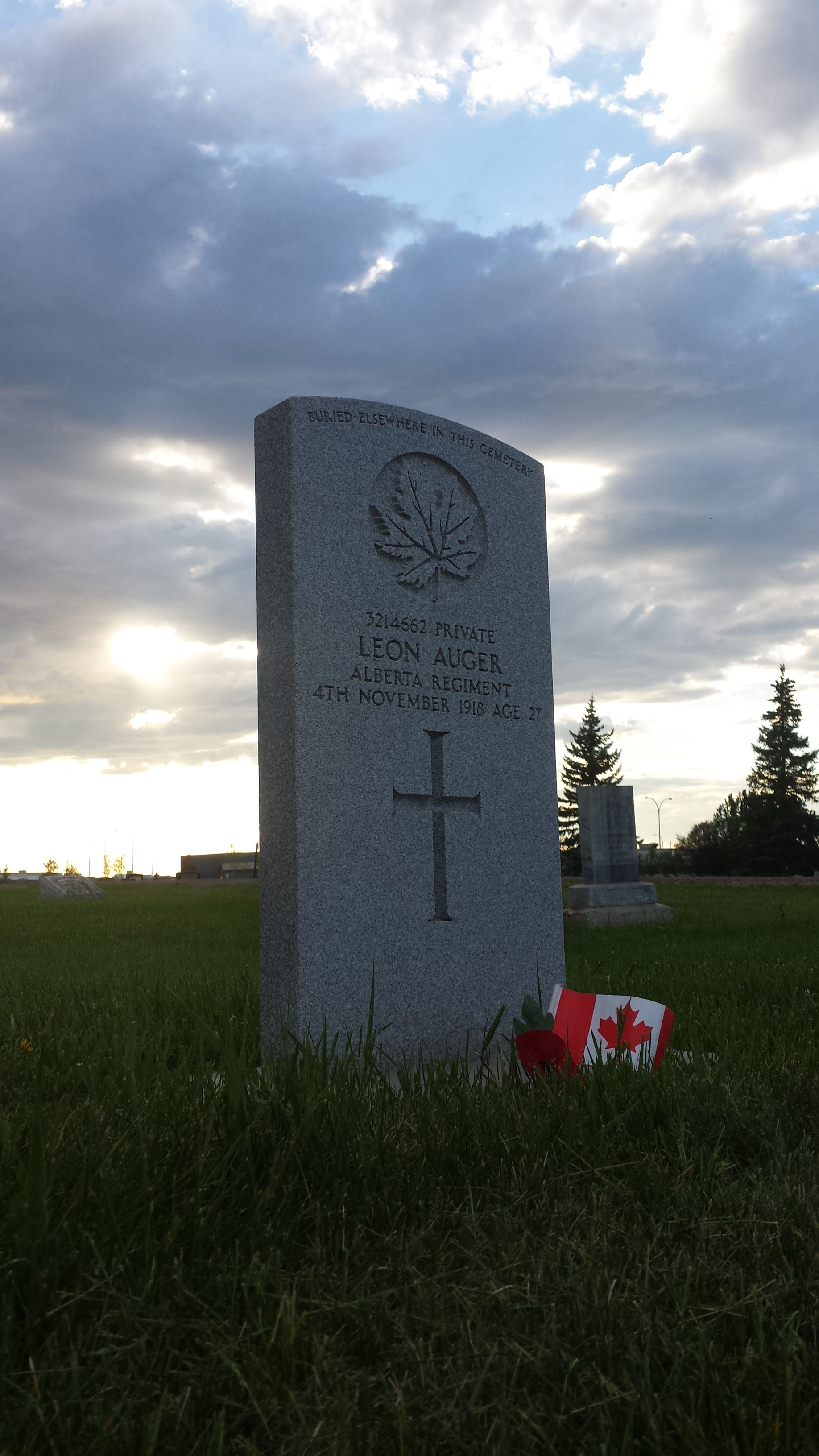 Grave Marker – Resting peacefully in the Grande Prairie sunset