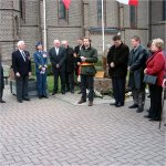 Ceremony – On November 11,2004 A ceremony was held for the unveiling of a plaque to the RCAF crew of a Halifax bomber aircraft which was shot down over Belgium on the night of 22 April 1944.