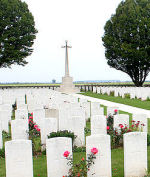Arras Road Cemetery – The Arras Road Cemetery, located at Roclincourt, about 5 kilometres from Canada's Vimy Memorial in France. (John & Anne Stephens 2013)