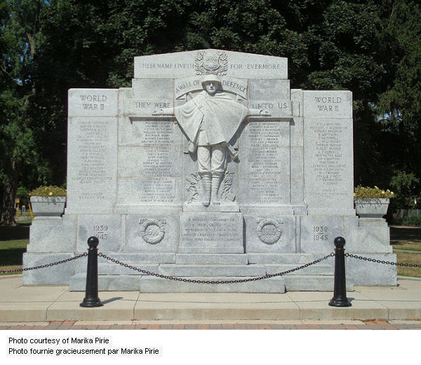 War Memorial – Dedicated November 8, 1926.  The names of Preston soldiers killed in the Second World War were added in 1949.