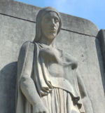 Close up of Galt War Memorial – Detail of the Cambridge (Galt) War Memorial.