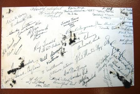 Signature – Signature of Bennie....from a photo of his class #2 EFTS Fort William, May 22, 1941