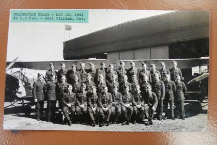 Group Photo – Photo of his class #2 EFTS Fort William, May 22, 1941