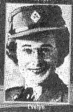 Photo of Evelyn Cantin – When Wilfrid died his wife Evelyn joined the Woman's Army Corps     Submitted with permission of Albert Cantin  By Operation Picture Me