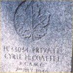 Gravemarker – Photo courtesy of N. Bruce Cameron, Winnipeg, October 2004.
