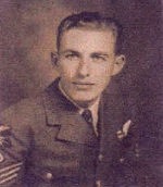 Photo of Jack Edwin McIntyre – Jack was the wireless operator on an aircraft that was shot down in Belgium on May 13th, 1944.  The aircraft crashed into a bog, killing the entire crew.  Jack, and four other crew members were recovered from the wreck and were buried in East Flanders, Belgium.  He was attached to #426 Squadron.  In 1997 the remains of the other three crew members were removed from the crash site and buried with their five comrades.  His sister flew to Belgium for this Memorial Service.  Jack's ring and watch were recovered and presented to Calla in 1997.  In 1948, the RCAF members of the crew, posthumously received The Belgium Croix de Guerre with Palm.