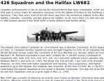 426 Squadron and the Halifax LW682 – 426 Squadron and the Halifax LW 682