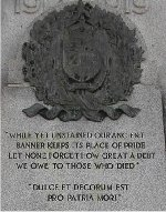 Inscriptions – Detail of names listed on the Saltfleet Township War Memorial.