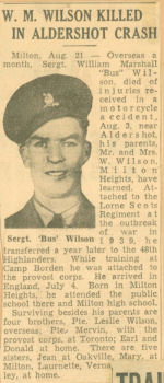 Photo of WILLIAM MARSHALL WILSON – newspaper (killed in accident)