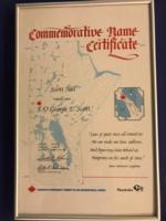 Certificate – Commemorative Name Certificate: Scott Hill named  in honour of George Edward Scott