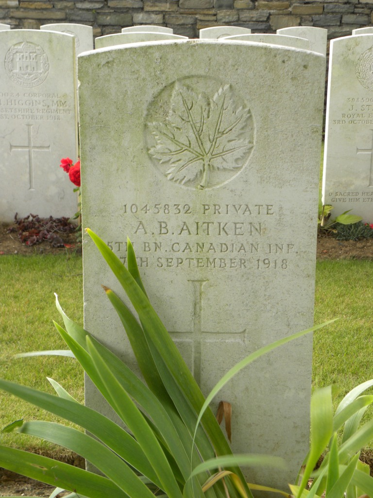Grave marker – Submitted by 15th Bn Memorial Project Team.  Dileas Gu Brath