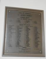 Memorial – Aitken is remembered on a plaque in St. James Westminster Anglican Church in London, Ontario