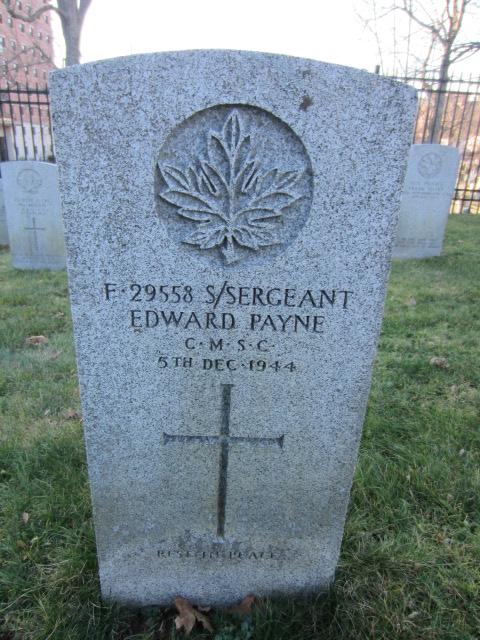 Grave Marker – Grave marker for Edward Payne at Fort Massey Cemetery, Halifax, Nova Scotia, Canada.