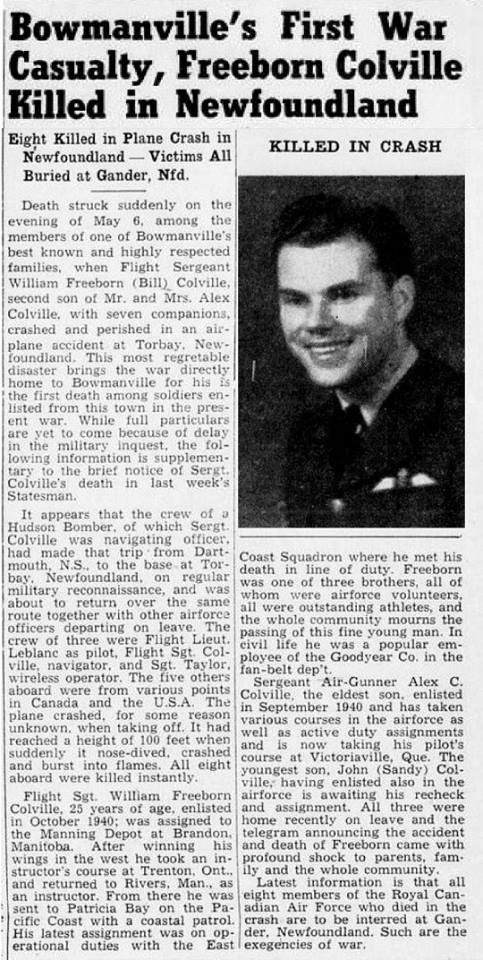 Newspaper Clipping – From the research work done by Margaret Rose Gaunt and submitted for the project Operation Picture Me