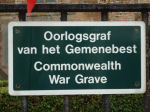 CWGC sign – Sign on the communal cemetry of Houtave