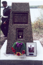 Memorial Cairn – Memorial Cairn commemorating Pilot Officer H E Dabbs of the Royal Canadian Air Force.  Dabbs Lake was named after him and it was dedicated to him on September 16, 2001. The name of this lake was bestowed by the Canadian Permanent Committee on Geographical Names (now the Geographical Names Board of Canada).  The Memorial Cairns Project was conducted by the Airman's Memorial Cairns Committee, Royal Canadian Legion, McGrane Branch No 28, Lac La Biche, Alberta.