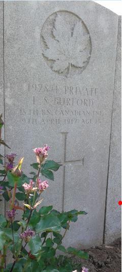 Grave marker – Edward Swift Burford's Memorial, June 12, 2015