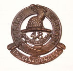 Badge – Cap Badge 15th Bn (48th Highlanders of Canada).  Submitted by Capt V Goldman, 15tyh Bn Memorial Project Team.  DILEAS GU BRATH