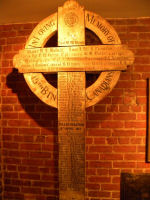 Vimy Cross – The Vimy Cross was returned to the  48th Highlanders after the war by the CWGC and currently rests in a place of honour in their Regimental Museum.  All the names of those 15th Battalion members killed during battle at Vimy Ridge remain clearly visible on the cross.  Photo by BGen (ret) G Young and submitted by Capt (ret) V Goldman of the 15th Battalion Memorial Project.  DILEAS GU BRATH