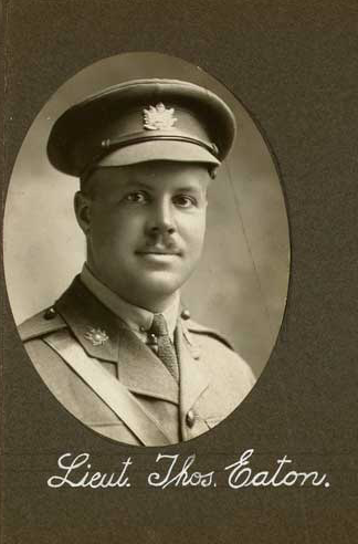Photo of THOMAS ALDEN EATON – In memory of the employees of the T. Eaton Company that went to war and did not come home.  Submitted for the project, Operation: Picture Me