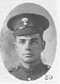 Photo of John Higgins – In memory of the men who served with the 87th Battalion CEF. Submitted for the project, Operation: Picture Me