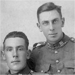 Brothers – Brothers - Taken in France.  Harold survived although badly gassed and wounded. He died 1974.  They were very close.