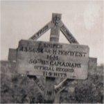 Original  Grave Marker – Gravesite marker erected by members 50th Battalion.
