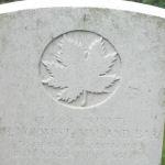 Grave marker – Photo of grave marker courtesy Wilf Schofield, England