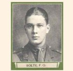 """Photo of Felix Olivier Bolte – From """"The War Book of Upper Canada College"""", edited by Archibald Hope Young, Toronto, 1923.  This book is a Roll of Honour including former students who served during the First World War."""