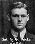 Photo of George Bricker – From: The Varsity Magazine Supplement published by The Students Administrative Council, University of Toronto 1916.  