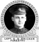 Photo of George Bricker – From: The Varsity Magazine Supplement Fourth Edition 1918