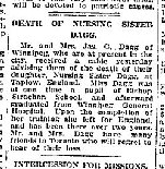 Newspaper Clipping – Source: The Globe (Toronto) 2 December 1918, page 10.