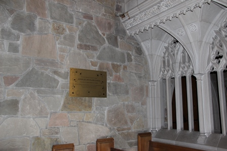 Memorial Plaque – A brass plaque commemorating Nursing Sister Ainslie St. Clair Dagg now hangs on the south wall of the Bishop Strachan School's chapel. A service for the installation of the plaque was held on November 19, 2015. Ainslie Dagg was an alumna of BSS, having attended the school in 1910-1911. The plaque was designed by two BSS senior art students who graduated in 2015.