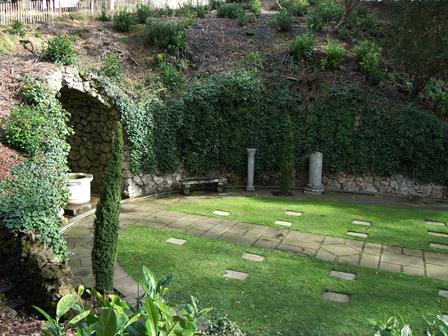 Cemetery – A view looking across the War Memorial Garden at Cliveden, England where Nursing Sister Ainslie St. Clair Dagg is buried. The photograph was taken in 2014 by Susan Dutton, Archivist at the Bishop Strachan School. Ainslie Dagg attended the school in 1910-1911.
