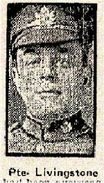 Newspaper Clipping – Pte. Livingstone enlisted in the 180th (Sportsmen) Battalion in Toronto on March 1st, 1916.