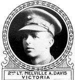 Photo of Melville Davis – From: The Varsity Magazine Supplement Fourth Edition 1918 published by The Students Administrative Council, University of Toronto.   Submitted for the Soldiers' Tower Committee, University of Toronto, by Operation Picture Me.