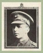 Photo of Meliville Davis – Source:  Acta Victoriana War Supplement, Victoria College, Toronto, Ontario, December 1919.