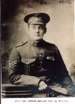 Photo of Thomas Lewis Briggs – Photo taken in 1915 while serving in the 45th Battalion CEF.