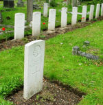 Cemetery – Canadian burials in the St. James Churchyard, Hampton Hill, U.K.