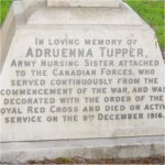 Inscription – A close up of Sister Tupper's headstone